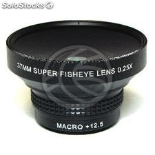 0.25X Fisheye lens mount 37mm macro 12.5X (JC91)