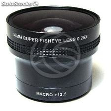 0.25X Fisheye lens mount 58mm macro 12.5X (JC94)