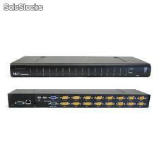 1 +1 Combo consola de 8/16 puertos kvm Switch, el control local y remote