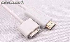 1.8m MHL cable adaptador av digital Apple con USB para ipad cable computadora