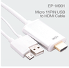 1.8m mhl cable Micro-11PIN usb to hdmi cables