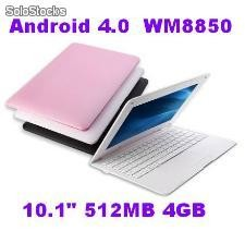 "10.1""mini netbook android4.0 wm8850 512mb 4gb hdmi usb sd camara rj45 externo 3g"