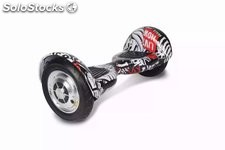 "10"" Hoverboard gyropode electric auto équilibre Scooter auto balance crâne rouge"