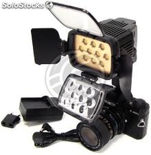 10 LED Torch 1600 lux profissional Sony F550 bateria (ER07-0002)