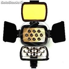 10 LED Torch 1600 lux profissional Sony F750 bateria (ER08-0004)