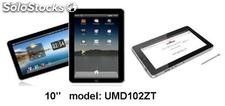 "10""mid/tablet pc/umd Android2.2 Imapx210@1GHz 512m/4gb con gps hdmi"