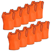 10 pcs Gilet de formation Junior Orange