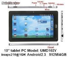 "10""tablets pc umd mid android2.3 ix210 512m 4g wifi hdmi gps Kamera resistive"