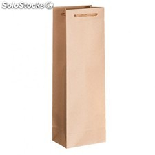 10 u. Bolsa porta botellas cordon 12,3+7,8x36 cm natural kraft