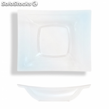 10 u. platos hondos 14,5x12 cm transparente ps (12 pack)