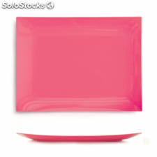 10 u. platos llanos 17,7x14,3 cm fucsia ps (12 pack)