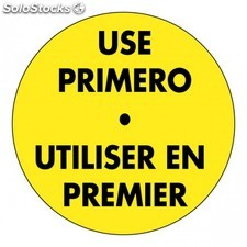 "1000 etiquettes adhesives ""utilisez en premier"" 5 cm orange adhesif"