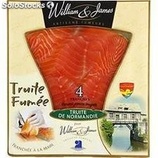 100G 4 tranches truite fumee will & james