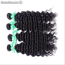 100g/pc 3 tissage bresilienne Deep Curly virgin hair curly cheveux humain