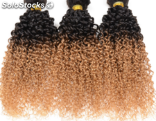 "100g/pc 4 tissage bresilienne Deep Curly virgin hair curly cheveux humain 28""28"""