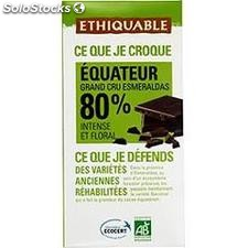 100G tablette chocolat noir 80% equat bio ethiquable