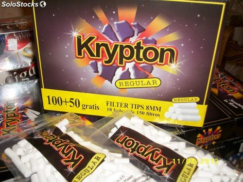 10800 filtros Krypton 8mm regular para liar cigarrillos