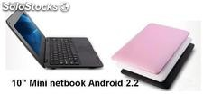 10pul mini netbook notebook laptop android2.2 800m 4gb wifi camara