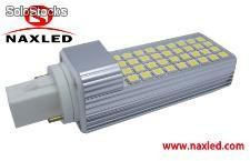 10w led plug light, g24/e27/e14 base, 5050 smd LEDs, 900lm, frosted/clear cover