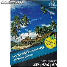 10x15 r4 high glossy inkjet photo paper 180g 50 hojas