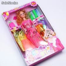 "12.5"" Muneca Barbie plastico, el ultimo diseno color surtido"