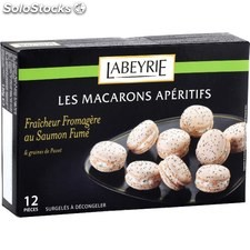 12 macarons fromage frais / saumon fume labeyrie