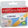 12 pansements coricides mercurochrome