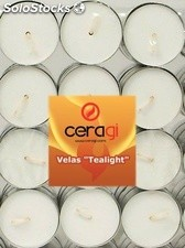 "12 Velas ""tealights"" calientaplatos. 4 horas"