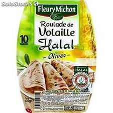 120G 10 tranches roulade volaille olive halal fleury michon
