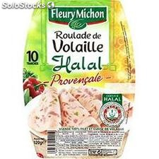 120G 10 tranches roulade volaille provencale halal fleury michon