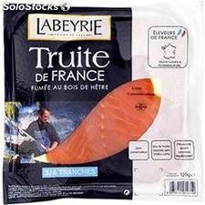 120G 3/4 tranches truite fumee de france labeyrie