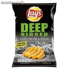 120G chips deep ridged salt lay's