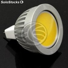 12VDC MR16 cob led Bulb 3W 50mm cold day with light diffuser (NJ28)
