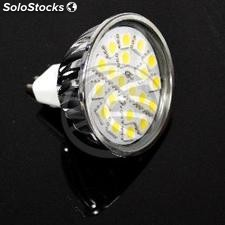 12VDC smd led Bulb MR16 3.5 w 120 ° 50mm warm light (NJ16-0003)