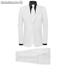 131093 Men's Two Piece Suit with Tie White Size 50 - Untranslated