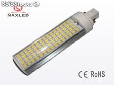 13w led plug light, g24, Aluminum housing, frosted / clear pc lens, 1170lm
