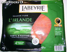 140G 4 tranches saumon fume irlande labeyrie