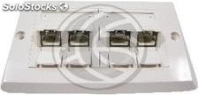 140x80 wall plate for 4 RJ45 Cat.5e ftp (RI56)