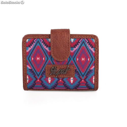 15603 wallet card holder marca skpa t Rosso
