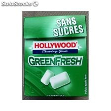 15G 10 dragee green fresh sans sucre hollywood