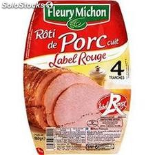 160G 4 tranches roti porc label rouge fleury michon