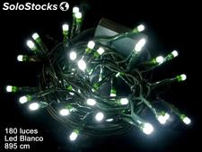 180 luces LED fijas cadena blanco 895cm