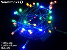 180 luces LED fijas cadena multicolor 895cm