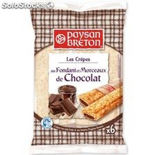 180G 6 crepes fourrees chocolat paysan breton