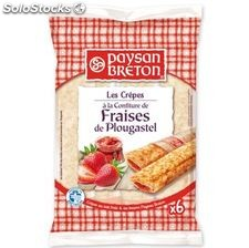180G 6 crepes fourrees fraise paysan breton