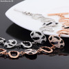 18k pink gold plated bracelet set with Cubic Zirconia.