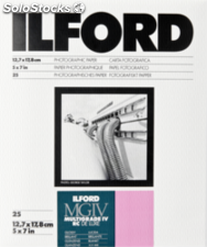 1x 25 Ilford mg iv rc 1M 13x18