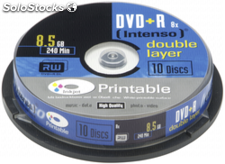 1x10 Intenso DVD+R 8,5GB 8x Speed, Double Layer imprimible