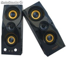 2.0ch pc altavoces multimedia speakers rms 10w*2 cmk3050