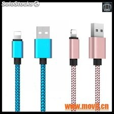 2.4A 2 In 1 Mobile Phone Cables para IPhone 5 6 6s Plus